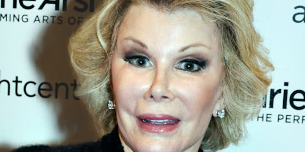 MIAMI, FL - SEPTEMBER 04: Joan Rivers at the Adrienne Arsht Center of the Performing Arts on September 4, 2014 in Miami, Florida. (Photo by Manny Hernandez/Getty Images)