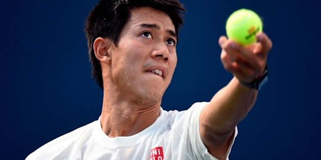 NEW YORK, NY - SEPTEMBER 07:  Kei Nishikori of Japan practices on Day fourteen of the 2014 US Open at the USTA Billie Jean King National Tennis Center on September 7, 2014 in the Flushing neighborhood of the Queens borough of New York City.  (Photo by Alex Goodlett/Getty Images)