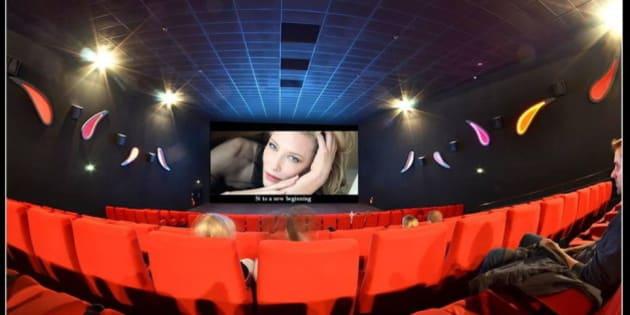 Prise de vue realisée avec un fisheye au Cinema Gaumont à Amiens