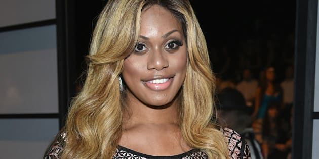 NEW YORK, NY - SEPTEMBER 06:  Laverne Cox attends Herve Leger By Max Azria during Mercedes-Benz Fashion Week Spring 2015 at The Theatre at Lincoln Center on September 6, 2014 in New York City.  (Photo by Dimitrios Kambouris/WireImage)