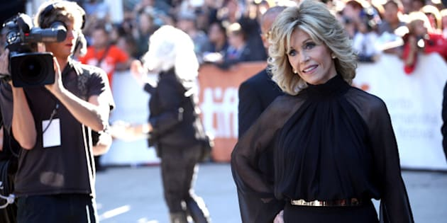 TORONTO, ON - SEPTEMBER 07:  Actress Jane Fonda attends the 'Miss Julie' premiere during the 2014 Toronto International Film Festival at Roy Thomson Hall on September 7, 2014 in Toronto, Canada.  (Photo by Tommaso Boddi/WireImage)