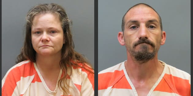 """Kendra Tooley, left, and her boyfriend, Ricky Roy House Jr., are shown in undated photos provided by the Posey County, Ind. Jail. Ron Higgs, the man credited with rescuing a woman allegedly held captive for two months by Tooley, and House Jr., says he he visited his ex-wife, Tooley, and her boyfriend, Thursday, Sept. 4, and was dumbfounded when Tooley told him, """"I've got a girl back here in a cage."""" Higgs drove the woman to safety Saturday after convincing House and Tooley that he wouldn't tell police. The Posey County couple now faces preliminary charges of rape and criminal confinement. (AP Photo/Posey County, Ind. Jail)"""