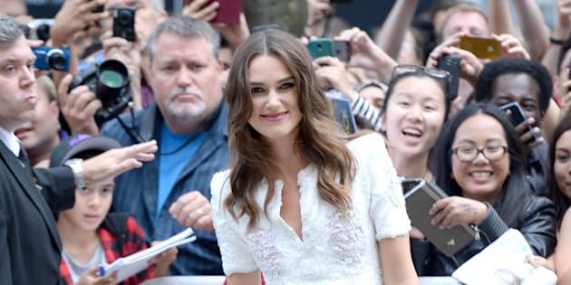 TORONTO, ON - SEPTEMBER 09:  Actress Keira Knightley attends 'The Imitation Game' Premiere during the 2014 Toronto International Film Festival at Princess of Wales Theatre on September 9, 2014 in Toronto, Canada.  (Photo by Jason Merritt/Getty Images)