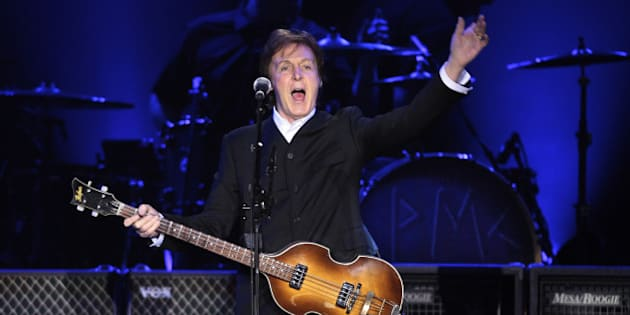 Paul McCartney performs on stage on his On The Run tour at Ahoy on March 24, 2012 in Rotterdam, Netherlands. (Photo by Rob Verhorst/Redferns)