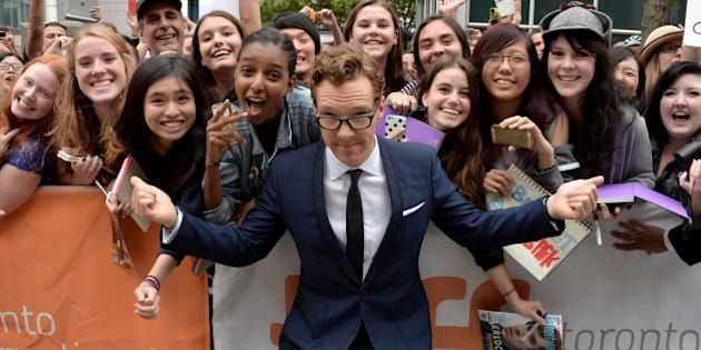 TORONTO, ON - SEPTEMBER 09:  Actor Benedict Cumberbatch poses with fans at 'The Imitation Game' premiere during the 2014 Toronto International Film Festival at Princess of Wales Theatre on September 9, 2014 in Toronto, Canada.  (Photo by George Pimentel/Getty Images)