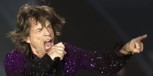 Rolling Stones singer Mick Jagger performs during a concert in Hayrkon Park in Tel Aviv, Israel, Wednesday, June 4, 2014. (AP Photo/Ariel Schalit)