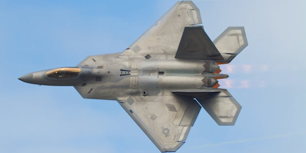 [UNVERIFIED CONTENT] Lockheed Martin F-22A Raptor carries out a 'Dedication Pass' as part of it's display at Joint Base Elmendorf-Richardson, Anchorage, Alaska.