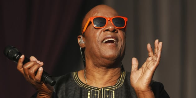 US singer Stevie Wonder performs at the Calling festival, in London, Sunday, June 29, 2014. Thousands of music fans are expected at the weekend's festival to see acts such as Aerosmith and Stevie Wonder. (Photo by Jim Ross/Invision/AP)