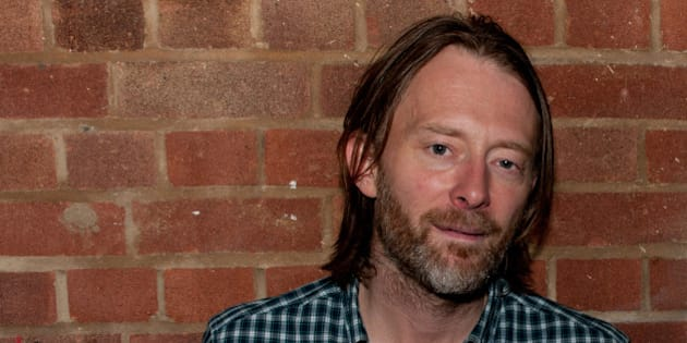 LONDON, ENGLAND - OCTOBER 11:  Thom Yorke of Radiohead poses for a photoshoot backstage at Boiler room #69 on October 11, 2011 in London, United Kingdom.  (Photo by Caitlin Mogridge/Redferns)