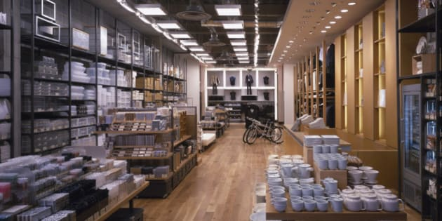 Muji Store, Bluewater, United Kingdom, Architect Mcdaniel Woolf, Muji Store General View Of Interior To Rear. (Photo by View Pictures/UIG via Getty Images)