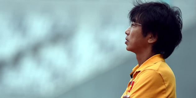 INCHEON, SOUTH KOREA - SEPTEMBER 26:  Toshiya Miura coach of Vietnam looks on during the Football Mens Round of 16 match between Vietnam and the United Arab Emirates during day five of the 2014 Asian Games at Hwaseong Sports Complex Main Stadium on September 26, 2014 in Incheon, South Korea.  (Photo by Stanley Chou/Getty Images)