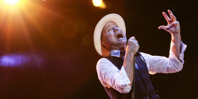 OTTAWA, ON - JULY 11:  Gord Downie of The Tragically Hip performs on Day 8 of the RBC Royal Bank Bluesfest on July 11, 2013 in Ottawa, Canada.  (Photo by Mark Horton/WireImage)