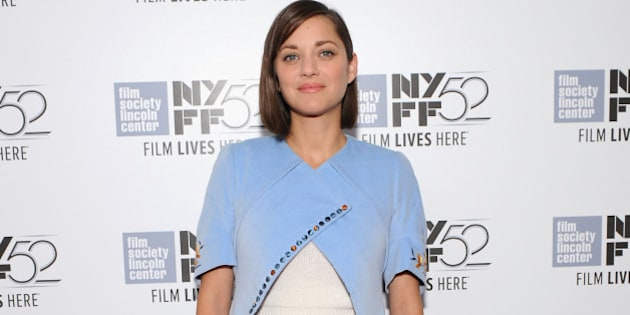 NEW YORK, NY - OCTOBER 05:  Actress Marion Cotillard attends the 'Time Out Of Mind' premiere during the 52nd New York Film Festival at Alice Tully Hall on October 5, 2014 in New York City.  (Photo by Andrew Toth/WireImage)