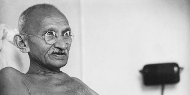 Indian statesman and activist Mohandas Karamchand Gandhi (1869 - 1948) at Birla House, Mumbai, August 1942. (Photo by Dinodia Photos/Getty Images)