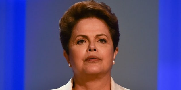 Brazilian President and candidate of Brazilian presidential election for the Workers Party (PT) Dilma Rousseff attends their last TV debate in Rio de Janeiro, Brazil, on October 2, 2014. The general election will be held on October 5, 2014.  AFP PHOTO / YASUYOSHI CHIBA        (Photo credit should read YASUYOSHI CHIBA/AFP/Getty Images)