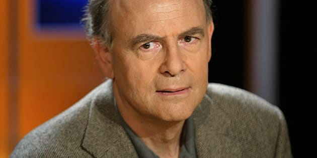 (FILES) A photo taken on October 7, 2003 in Paris shows French writer Patrick Modiano who won the 2014 Nobel Prize in Literature, the Royal Swedish Academy announced on October 9, 2014 in Stockholm, Sweden 