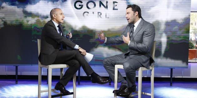 TODAY -- Pictured: (l-r) Matt Lauer and Ben Affleck appear on NBC News' 'Today' show -- (Photo by: Peter Kramer/NBC/NBC NewsWire via Getty Images)