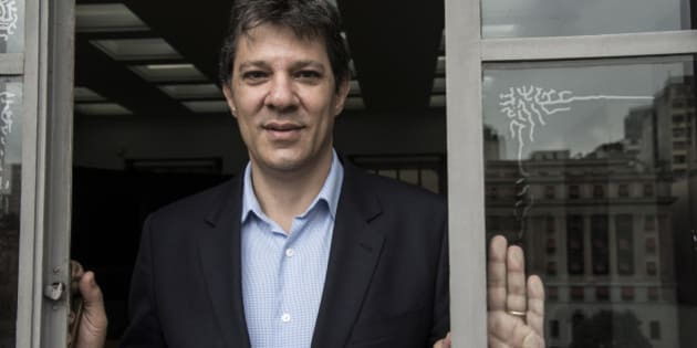 Fernando Haddad, mayor of Sao Paulo, stands for a photograph following an interview at City Hall in Sao Paulo, Brazil, on Thursday, July 10, 2014. Haddad hopes the World Cup helped transform his citys image among the 500,000 tourists who visited during the event, saying Most of those who came in for the first time will come back. Photographer: Paulo Fridman/Bloomberg via Getty Images