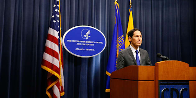 ATLANTA, GA - OCTOBER 05:  Director of Centers for Disease Control and Prevention Tom Frieden addresses the media on the Ebola case in the U.S. at the Tom Harkin Global Communications Center on October 5, 2014 in Atlanta, Georgia. The first confirmed Ebola virus patient in the United States was staying with family members at The Ivy Apartment complex before being treated at Texas Health Presbyterian Hospital Dallas. State and local officials are working with federal officials to monitor other individuals that had contact with the confirmed patient.  (Photo by Kevin C. Cox/Getty Images)