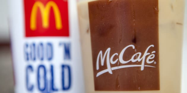 A McDonald's Corp. iced coffee is arranged for a photograph in Washington, D.C., U.S., on Thursday, July 14, 2011. McDonald's will announce earnings on July 22. Photographer: Andrew Harrer/Bloomberg via Getty Images