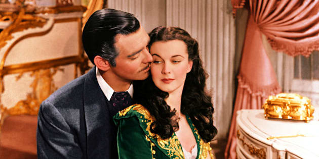 Clark Gable (1901–1960), US actor, and Vivien Leigh (1913-1967), British actress, in a publicity still issued for the film, 'Gone with the Wind', 1939. The drama, directed by Victor Fleming (1889-1949), starred Gable as 'Rhett Butler', and Leigh as 'Scarlett O'Hara'. (Photo by Silver Screen Collection/Getty Images)