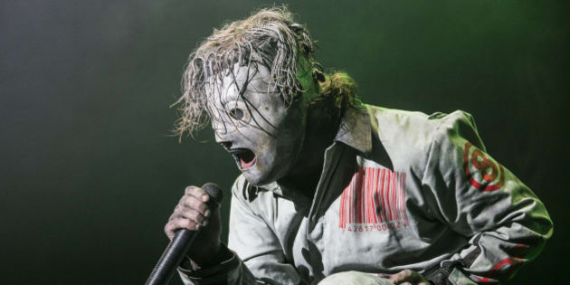 ROSKILDE, DENMARK - JULY 04:  Corey Taylor from Slipknot headlines the Orange Stage on Day 1 of the Roskilde Festival on July 4, 2013 in Roskilde, Denmark.  (Photo by Rob Ball/Getty Images)