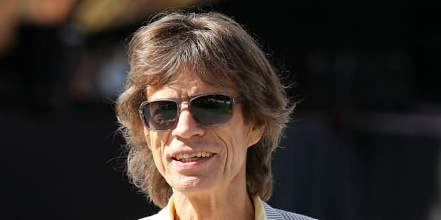 ADELAIDE, AUSTRALIA - OCTOBER 23:  Mick Jagger of the Rolling Stones pose for the media ahead of their Australian tour at Adelaide Oval on October 23, 2014 in Adelaide, Australia.  (Photo by Morne de Klerk/Getty Images)
