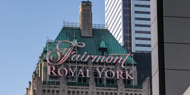 TORONTO, CANADA - JUNE 28:  The exterior of the Fairmont Royal York Hotel across from Union Station is viewed on June 28, 2014 in Toronto, Ontario, Canada. Canada's most populous city is undergoing a major economic boom with high-rise construction and renovation projects underway throughout the downtown and outlying neighborhoods. (Photo by George Rose/Getty Images)
