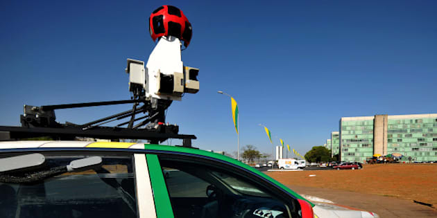 The Google street view mapping and camera charts the streets of Brasília, Brazil's capital, on September 6, 2011. AFP PHOTO/Pedro LADEIRA        (Photo credit should read PEDRO LADEIRA/AFP/Getty Images)