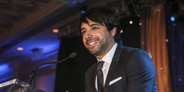 THORNHILL, ON - JANUARY 25: CBC's Jian Ghomeshi (centre) was  the emcee  at the 2014 Parya Trillium Foundation Gala was held at Le Parc Conference and Banquet Centre in Thornhill January 25, 2014.        (David Cooper/Toronto Star via Getty Images)