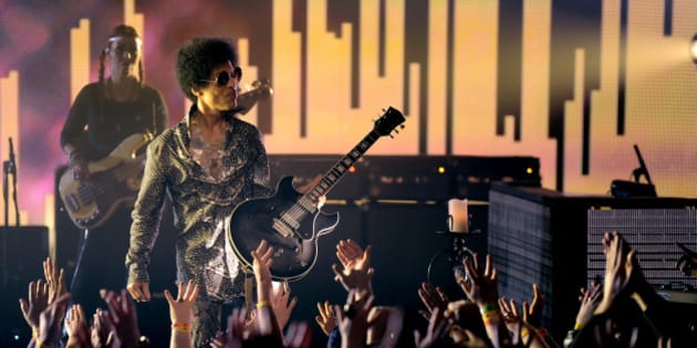 VANCOUVER, BC - APRIL 15:  (Exclusive Coverage) Prince and 3RDEYEGIRL perform at Vogue Theatre on April 15, 2013 in Vancouver, Canada.  (Photo By Kevin Mazur/WireImage for NPG Records 2013)
