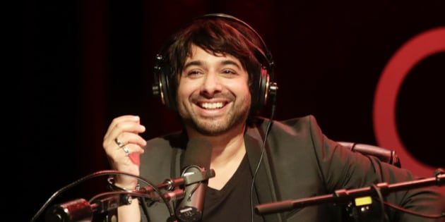 PORTLAND, OR - APRIL 24: Jian Ghomeshi records a live show at Aladdin Theater on April 24, 2014 in Portland, Oregon. (Photo by Natalie Behring/Getty Images)