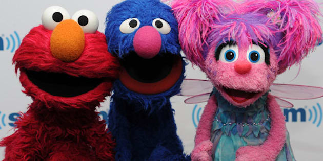 NEW YORK, NY - SEPTEMBER 12:  (L-R) Elmo, Grover and Abby Cadabby of Sesame Street visit at SiriusXM Studios on September 12, 2014 in New York City.  (Photo by Rommel Demano/Getty Images)