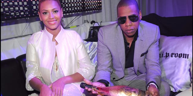 Jay Z and Beyonce Knowles during the 'Armand de Brignac' Champagne Party at VIP Room in Cannes, France on May 23, 2008. Photo by Rachid Bellak/ABACAPRESS.COM