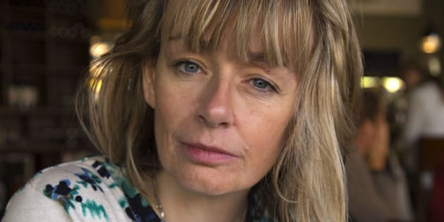 FREDRICTON, ON - OCTOBER 30:  Actor and Air Force Captain Lucy DeCoutere during a video interview with the Star in regards to her past personal experiences and interactions with CBC host Jian Ghomeshi. Lucy is the first one to speak out publicly about Jian Ghomeshi's hitting and choking.        (Chris So/Toronto Star via Getty Images)