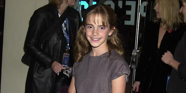 UNITED KINGDOM - NOVEMBER 04:  Emma Watson (who Plays Hermione In The Film), World Premiere Of 'Harry Potter And The Sorcerer's Stone', At The Odeon Leicester Square, London  (Photo by Dave Benett/Getty Images)