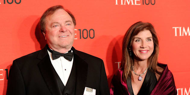 Continental Resources CEO Harold Hamm and his wife Sue Ann Hamm attend the TIME 100 gala, celebrating the 100 most influential people in the world, at the Frederick P. Rose Hall on Tuesday, April 24, 2012 in New York. (AP Photo/Evan Agostini)