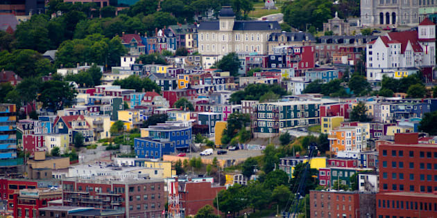 I didn't get that quintessential shot of the colourful row houses that's seen so often in those Newfoundland tourism commercials so I had to settle with a shot from afar. 