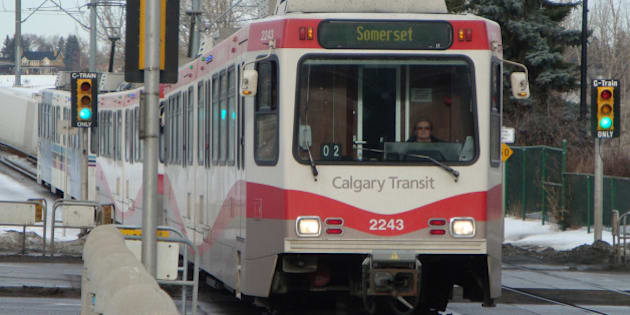 Calgary's Light Rail Transit system.