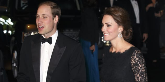 LONDON, UNITED KINGDOM - NOVEMBER 13: (EMBARGOED FOR PUBLICATION IN UK NEWSPAPERS UNTIL 48 HOURS AFTER CREATE DATE AND TIME) Prince William, Duke of Cambridge and Catherine, Duchess of Cambridge attend the Royal Variety Performance at the London Palladium on November 13, 2014 in London, England. (Photo by Max Mumby/Indigo/Getty Images)