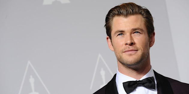 HOLLYWOOD, CA - MARCH 02:  Actor Chris Hemsworth poses in the press room at the 86th annual Academy Awards at Dolby Theatre on March 2, 2014 in Hollywood, California.  (Photo by Jason LaVeris/WireImage)