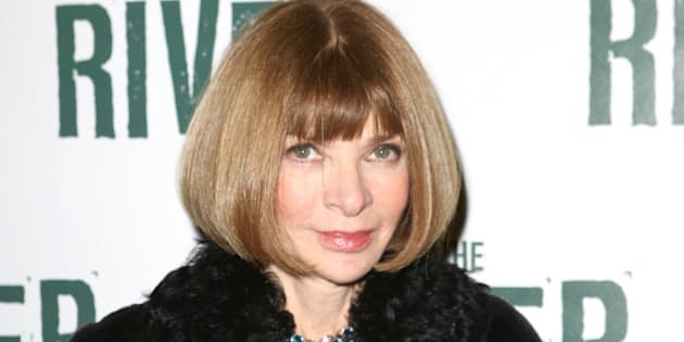 NEW YORK, NY - NOVEMBER 16:  Anna Wintour attend the Broadway Opening Performance of 'The River' at Circle in the Square Theatre on November 16, 2014 in New York City.  (Photo by Walter McBride/WireImage)