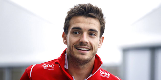 SUZUKA, JAPAN - OCTOBER 05: Jules Bianchi of France and Marussia arrives for the drivers' parade prior to the Japanese Formula One Grand Prix at Suzuka Circuit on October 5, 2014 in Suzuka, Japan. (Photo by Jiri Krenek/isifa/Getty Images)