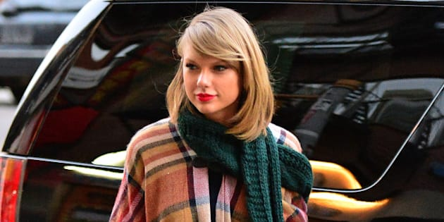 NEW YORK, NY - NOVEMBER 14:  Taylor Swift seen on the streets of Manhattan on November 14, 2014 in New York City.  (Photo by James Devaney/GC Images)