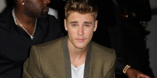 Justin Bieber attending Cr Fashion Book Issue N5 launch party by Carine Roitfeld and Stephen Gan in Peninsula Hotel in Paris, France on September 30, 2014.