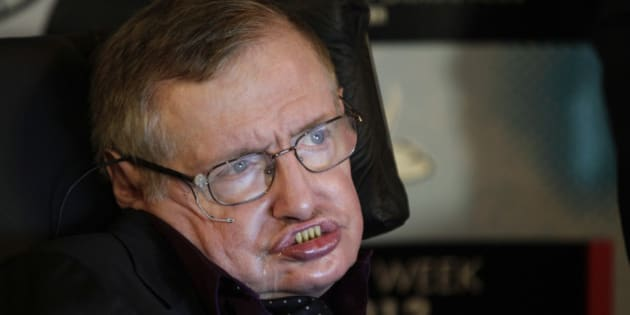 Physicist and best-selling author Stephen Hawking listens to questions from reporters, Saturday, June 16, 2012, in Seattle. Hawking was taking part in the Seattle Science Festival Luminaries Series focusing on the topic of evolution. (AP Photo/Ted S. Warren)