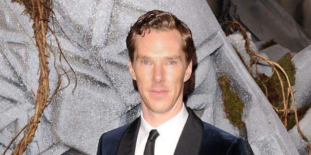 LONDON, ENGLAND - DECEMBER 01:  Benedict Cumberbatch attends the World Premiere of 'The Hobbit: The Battle OF The Five Armies' at Odeon Leicester Square on December 1, 2014 in London, England.  (Photo by David M. Benett/WireImage)
