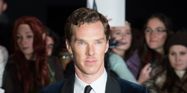 LONDON, ENGLAND - DECEMBER 01:  Benedict Cumberbatch attends the World Premiere of 'The Hobbit: The Battle OF The Five Armies' at Odeon Leicester Square on December 1, 2014 in London, England.  (Photo by Samir Hussein/WireImage)