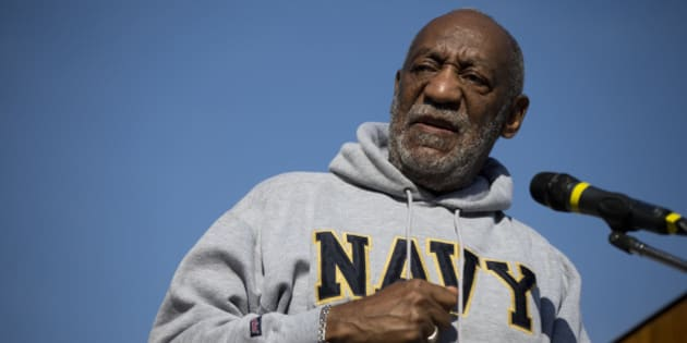 Entertainer and Navy veteran Bill Cosby at a Veterans Day ceremony, Tuesday, Nov. 11, 2014, at the The All Wars Memorial to Colored Soldiers and Sailors in Philadelphia. (AP Photo/Matt Rourke)