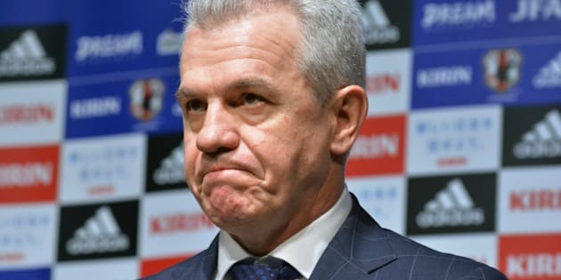 Japan's football coach Javier Aguirre attends a press conference to announce Japan Football Association's 2015 year-round schedules in Tokyo on December 10, 2014. Javier Aguirre, under pressure over claims he was involved in match fixing in Europe, and JFA chief Kuniya Daini attended a press conference.   AFP PHOTO / KAZUHIRO NOGI        (Photo credit should read KAZUHIRO NOGI/AFP/Getty Images)